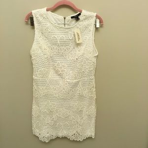 Forever 21 White Crochet Dress NWT—Size Large